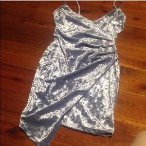 Charlotte russe suede party body-con dress
